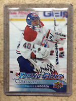 16-17 UD YG Young Guns Canvas #C104 CHARLIE LINDGREN RC Rookie