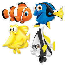 4 UNDER THE SEA LARGE TROPICAL FISH CUTOUT PARTY DECORATIONS