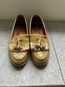 Ladies Beige Russell & Bromley Chester Loafers Size 3