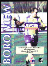 1997/98 FARNBOROUGH TOWN V WIMBLEDON 02-08-1997 Pre-Season Friendly