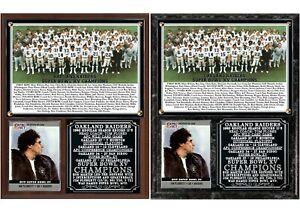 Oakland Raiders Super Bowl XV Champions Photo Card Plaque