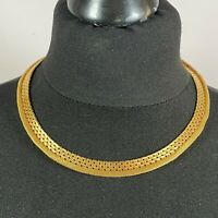 VINTAGE 70s Coro Collar Necklace Gold Tone Chunky Chain Cleopatra Jewelcraft