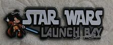 DISNEY STAR WARS LAUNCH BAY Die Cut Title Scrapbook Paper Piece - SSFFDeb