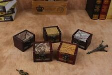 Decorative Trinket  Jewelry Storage Small Box Vintage Wooden Chest Treasure Case