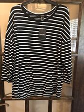 Forever 21 3/4 Sleeve Striped Top Size Small
