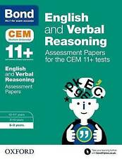Bond 11+ English and Verbal Reasoning Assessment Papers for the CEM  Age 8-9
