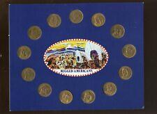 1970 Franklin Mint Rugged Americans Complete Set of 13 on Original Card Nrmt