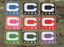 NFL TEAM LEADER JERSEY CAPTAINS PATCH TWO-STAR 2-STAR ORANGE CAPTAINS C-PATCH