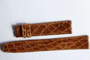 OMEGA Bracelet pour montre croco brun 18 mm (38767)