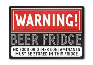 BEER FRIDGE METAL Funny Bar Sign Plaque Gift Idea for Him. Shed Bedroom Man Cave