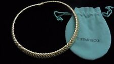 Tiffany & Company~VANNERIE~18K Yellow Gold~Basket Weave~Choker Necklace~1997~WOW