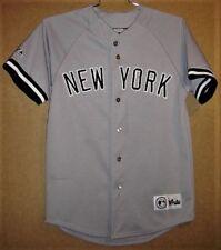NEW YORK YANKEES #2 DEREK JETER GRAY BUTTON-DOWN JERSEY & FREE YANKEES CAP