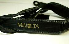 """Minolta/ Sony Shoulder Neck Strap 1"""" wide Dimage digital Original black gray"""