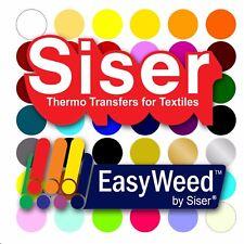 "SISER EasyWeed Heat Transfer Vinyl Tshirt /Textile Thin HTV 12"" x 60"" (5ft)sheet"