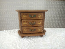 Old Wood Japanese Music Box With Drawers Toyo Music Box Works