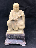 Divinité en Pierre Philosophe Asiatique Chine Antique Chinese Divinity