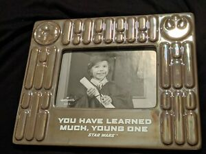 """New Star Wars Hallmark photo frame """"you have learned much young one"""""""