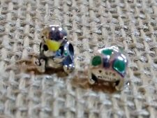 """Miss Chamilia-Child Bead, Sterling Silver & Enamel """"Lily the Frog Charm Bead"""""""