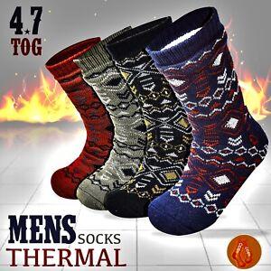 Socksology® Mens Double Heat Insulated Thermal Socks 4.7Tog Fleece Lined UK 6-11