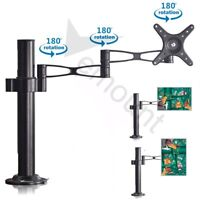 Heavy Duty Single Arm Desk Mount LCD LED Monitor Bracket Stand 22lbs for 10-32""