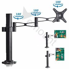 """Heavy Duty Single Arm Desk Mount LCD LED Monitor Bracket Stand 22lbs for 10-32"""""""
