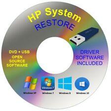 Hp System Recovery Boot Repair Restore USB Drive Windows 10 8 7 Vista XP