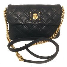 MARC JACOBS Small Quilted Black Leather Crossbody Bag