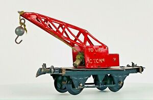 HORNBY 0 GAUGE MECCANO TIN PLATE - '10 TON RED BREAKDOWN CRANE' UNBOXED