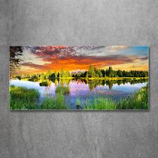 Glas-Bild Wandbild STEG ROMANTIC I AG-01119 125 x 50cm