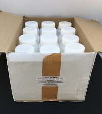 Twelve (12) 500ml Plastic Wide Mouth Reagent Bottle.