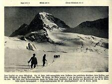 Bergführer Amatter Gletscherspalte Mönchjoch Historische Aufnahme von 1908