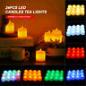 24PCS Tea Lights Candles LED FLAMELESS FLICKERING Battery Operated Wedding XMAS