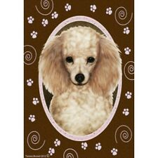 Paws House Flag - Apricot Poodle 17016