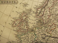 1813 DATED ANTIQUE MAP ~ EUROPE ~ BRITISH ISLES FRANCE GERMANY HUNGARY DENMARK