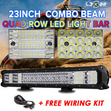 QUAD ROW 23inch 2256W PHILIPS LED Work Light Bar Combo Offroad Driving Lamp 20""