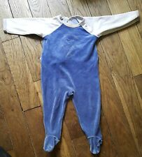 Dors bien grenouillère pyjama Bleu 12 Mois PETIT BATEAU Bon état