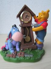 Walt Disney Winnie The Pooh Eeyore Figurine Table Clock Statue