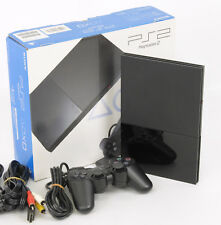 PS2 Playstation 2 Charcoal Black Console System Box SCPH-90000 Tested HJ173296