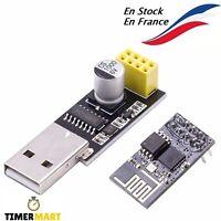ESP-01S avec Adaptateur USB pour ESP8266 ESP-01 NRF24L01 pour Arduino TimerMart