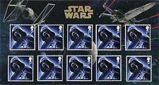 Star Wars - Darth Vader - MINI FOLDER con 10 francobolli Gran Bretagna 2015 GB