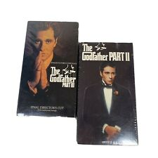 The Godfather Part Ii And Iii Final Director's Cut Vhs 1974 1990 2-Tape Set New