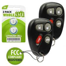 2 Replacement For 2004 2005 Cadillac Deville Key Fob Remote