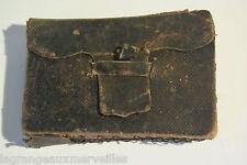 Ancien agenda de poche 1885 très rare avec son étui