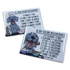 Weimaraner Dog Measuring Chart Magnet Set Handmade Kitchen Cooking Baking Guides