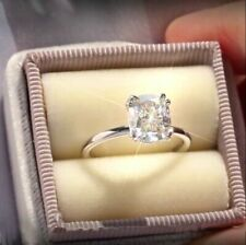 Radiant Elegant Moissanite Diamond 2.00 Ct Engagement Ring Solid 14k White Gold