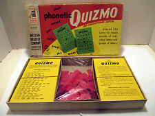 Vtg 1957 Milton Bradley Phonetic Quizmo Educational Lotto Bingo Game #9357 - New