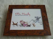 10x8 wood quality framed loot crate fallout original card print mr handy mans