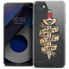 "Coque Crystal Gel Pour LG Q6 (5.5"") Extra Fine Souple Tatoo Lover Enjoy Life"