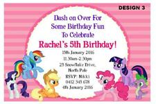 1 x MY LITTLE PONY BIRTHDAY GIRLS PERSONALISED PARTY INVITATIONS + FREE MAGNETS