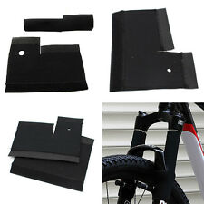 1 Pair Cycling MTB Bike Bicycle Front Fork Protector Pad Wrap Cover Set Black